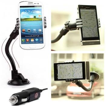 Držiak do auta (dĺžka ramena 20cm) + autonabíjačka pre Samsung Galaxy S5 Mini - G800