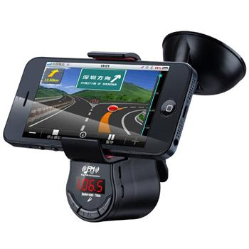 Držiak do auta s FM transmitterom