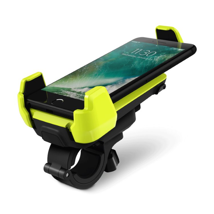 Držiak na bicykel/motorku iOttie Active Edge na riadidlá, Electric Lime