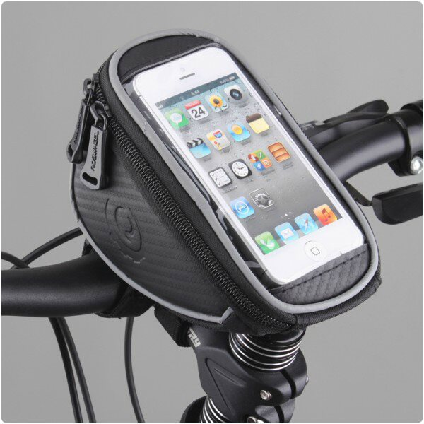 Dr�iak na bicykel RosWheel s bra��ou (na riadidl�) pre Apple iPhone 4, Apple iPhone 4S