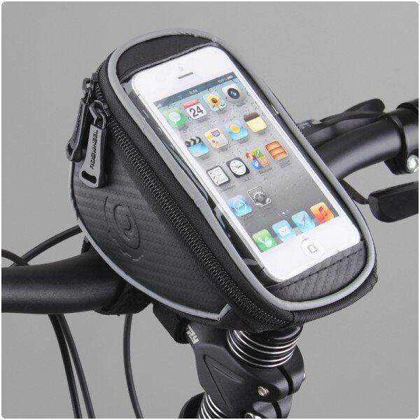 Držiak na bicykel RosWheel s brašňou na riadidlá - veľkosť L, Black