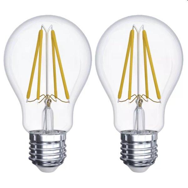 EMOS LED Žiarovka Filament A60 6W E27, teplá biela - 2ks