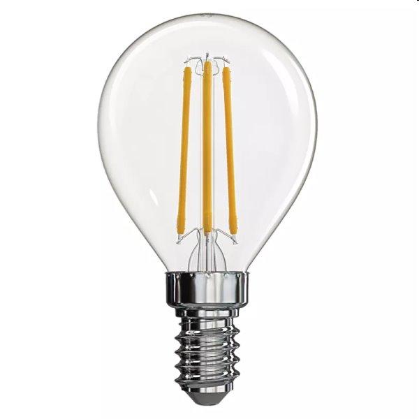 EMOS LED Žiarovka Filament Mini Globe 4W E14, teplá biela