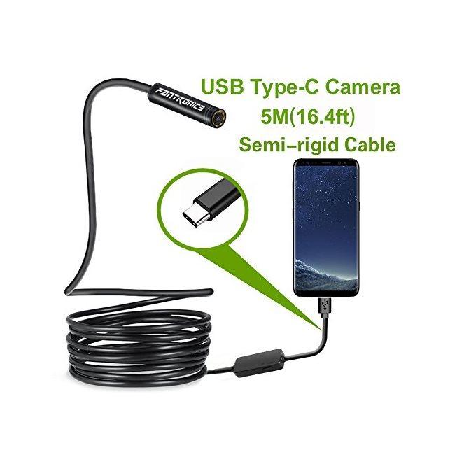 Endoskop / Inšpekčná VGA kamera s LED prisvietením pre Android smartfóny s USB Typ C konektorom