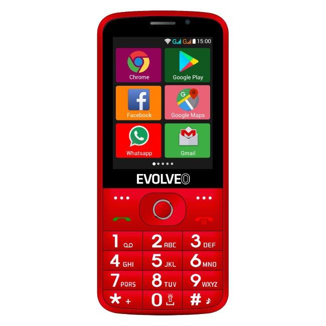 Evolveo EasyPhone AD, red + nabíjací stojan - SK distribúcia