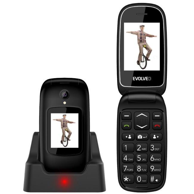 Evolveo EasyPhone FD, black + nabíjací stojan - SK distribúcia