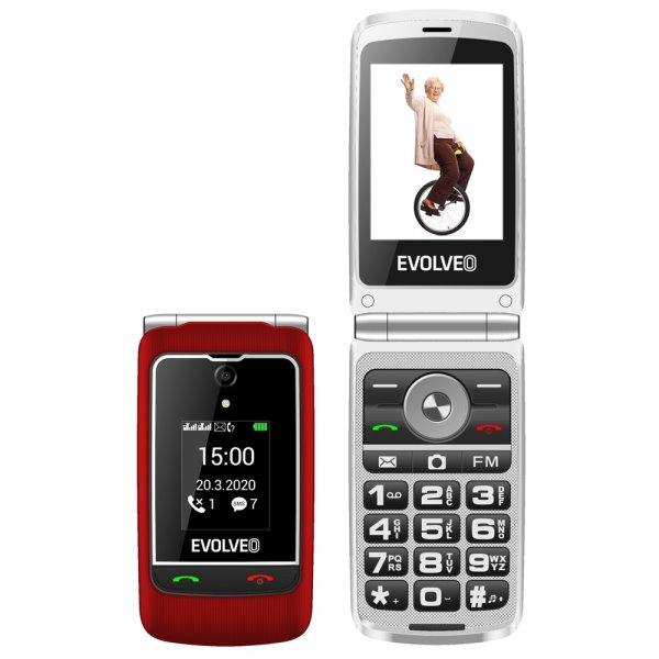 Evolveo EasyPhone FG, red + nabíjací stojan - SK distribúcia