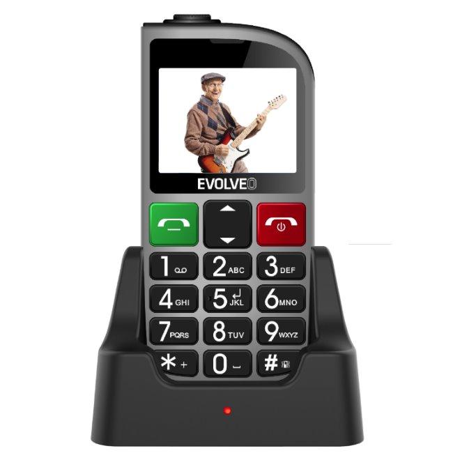 Evolveo EasyPhone FM, Grey + nabíjací stojan - SK distribúcia
