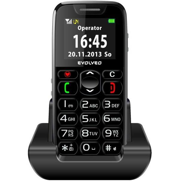 Evolveo EasyPhone - telefón pre seniorov, Čierny - SK distribúcia