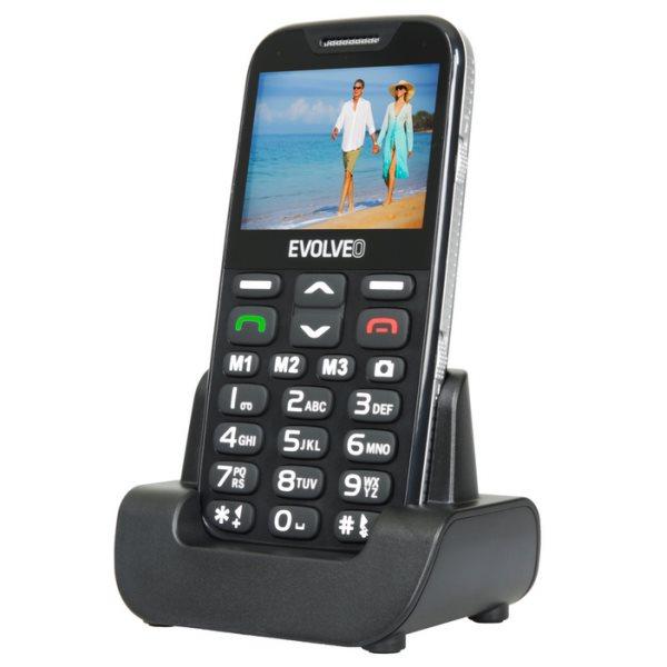 Evolveo EasyPhone XD, Black + nabíjací stojan - SK distribúcia