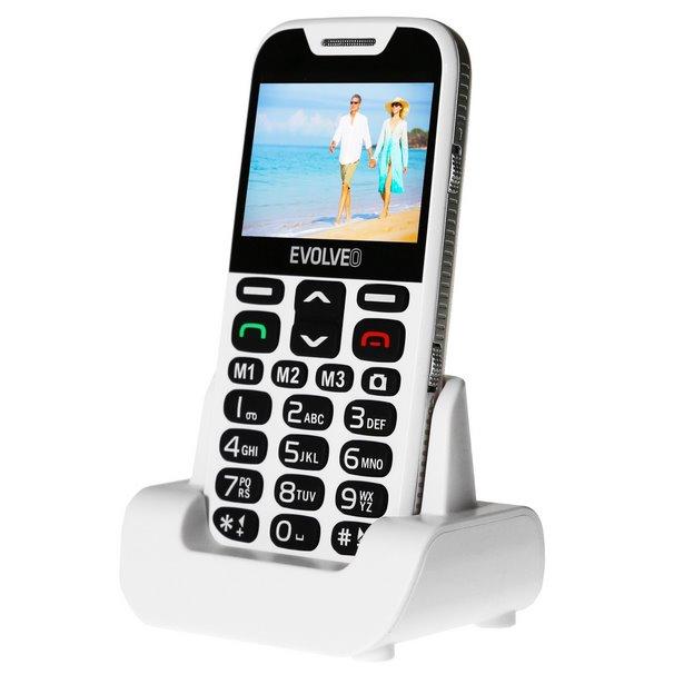 Evolveo EasyPhone XD, White + nabíjací stojan - SK distribúcia