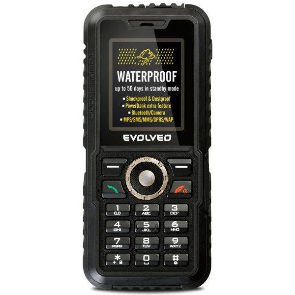 EVOLVEO StrongPhone Accu, Black