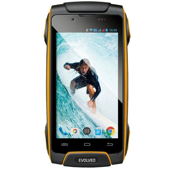 Evolveo StrongPhone Q8, Dual SIM, Black/Yellow - SK distrib�cia