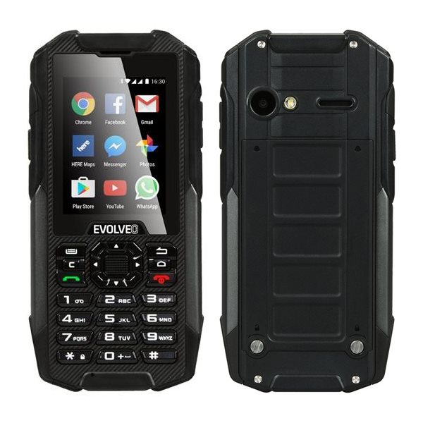 Evolveo StrongPhone X4, Android, Black - SK distrib�cia