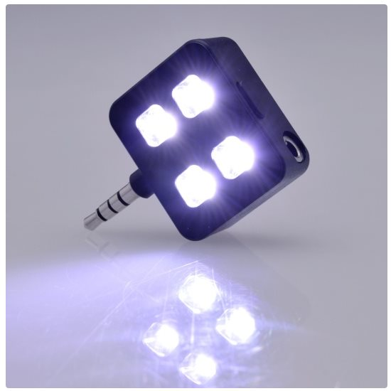 Extern� LED blesk/ LED Lampa do 3.5mm jack pre Va� smartf�n