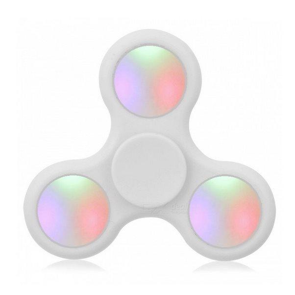 Fidget Spinner, LED podsvietenie biely