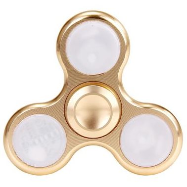 Fidget Spinner, LED podsvietenie zlatý