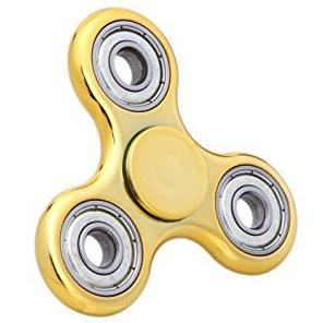 Fidget Spinner, metalická zlatá
