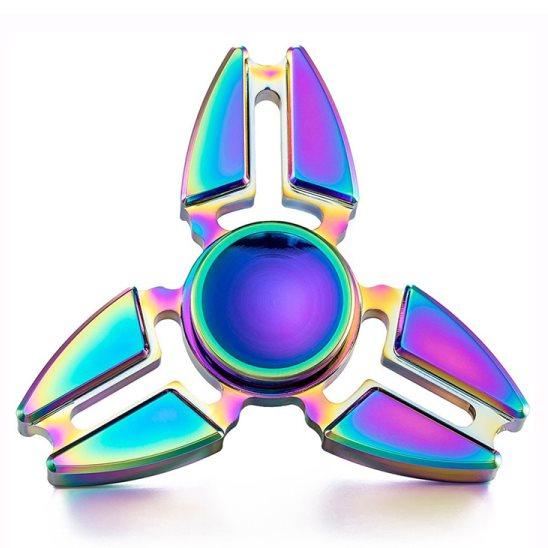 Fidget Spinner, Triangle1 - kovový, dúha
