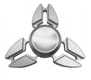 Fidget Spinner, Triangle1 - kovový, strieborný