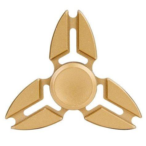 Fidget Spinner, Triangle1 - kovový, zlatý
