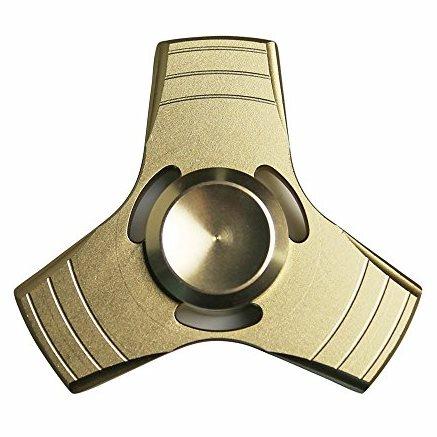 Fidget Spinner, Triangle2 - kovový, zlatý