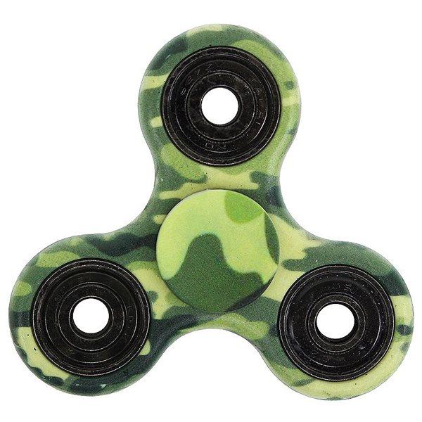 Fidget Spinner, zelená kamufláž