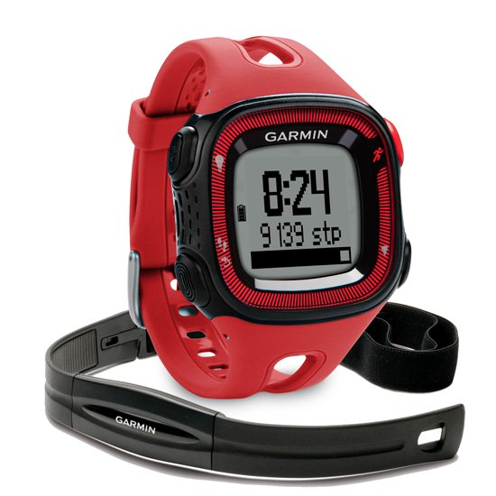 Garmin FORERUNNER 15 + Pulzomer, Red/Black