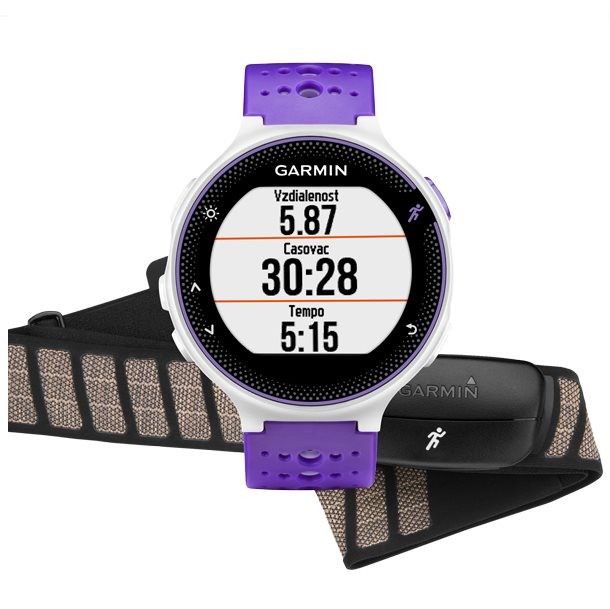 Garmin Forerunner 230, Purple & White Bundle