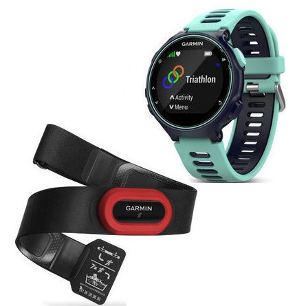 Garmin FORERUNNER 735XT, Midnight blue & Frost blue, Run Bundle