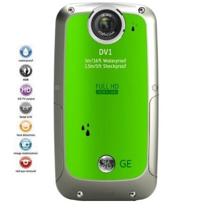 GE Full-HD digit�lna kamera DV1 | Lime Green