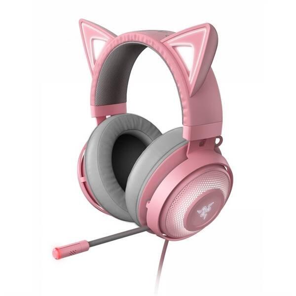 Herné slúchadlá Razer Kraken Kitty ružové