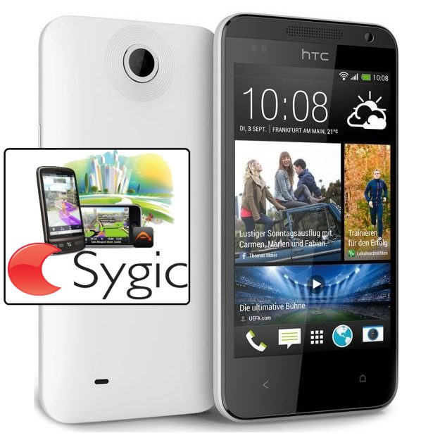 HTC Desire 300, White - SK distrib�cia + Sygic GPS navig�cia na do�ivotie