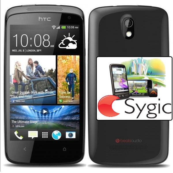 HTC Desire 500, Black - SK distrib�cia + Sygic GPS navig�cia na do�ivotie
