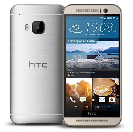 HTC ONE - M9, Gold on Silver