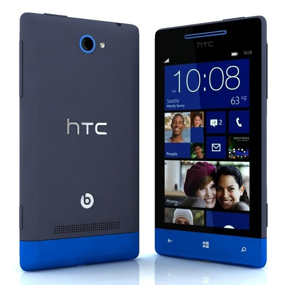 HTC Windows Phone 8S, Blue - SK distrib�cia