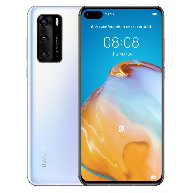 Huawei P40 5G, 8/128GB, Dual SIM, Ice White - SK distribúcia