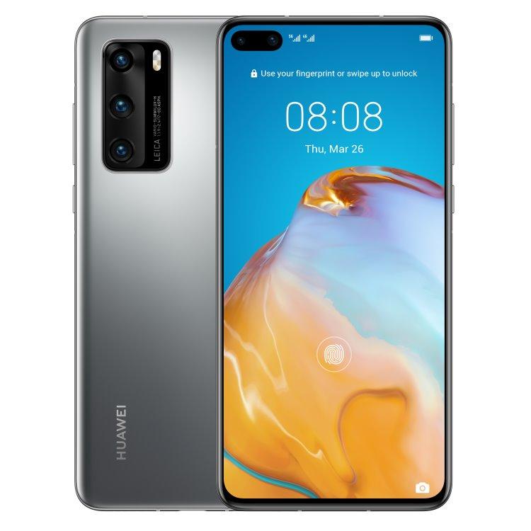 Huawei P40 5G, 8/128GB, Dual SIM, Silver Frost - SK distribúcia