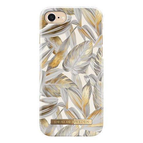iDeal Fashion Case iPhone 8/7/6/6s/SE Platinum Leaves