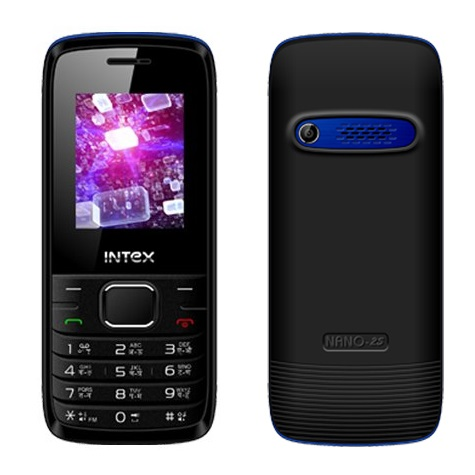 Intex Nano 2S, Dual Sim, Black Blue