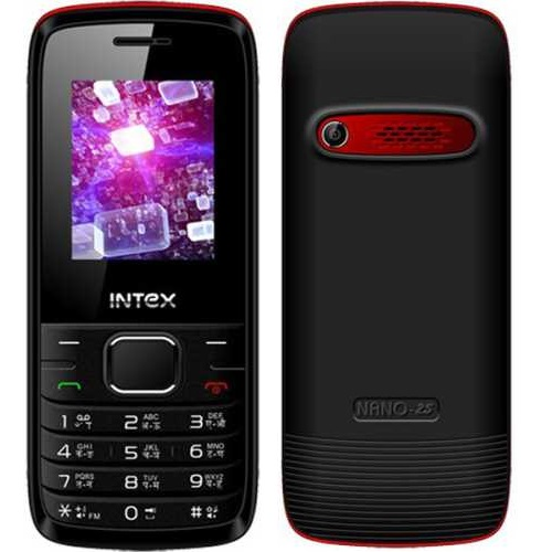 Intex Nano 2S, Dual Sim, Black Red