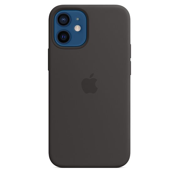 Apple iPhone 12   12 Pro Silicone Case with MagSafe, black