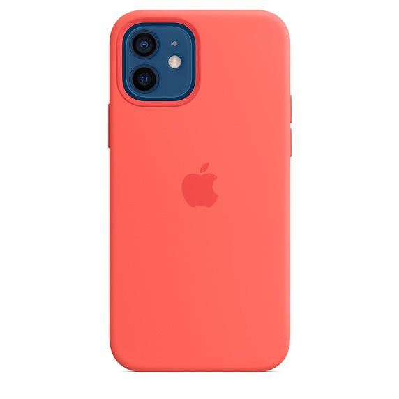 Apple iPhone 12 Pro Max Silicone Case with MagSafe, pink citrus MHL93ZM/A