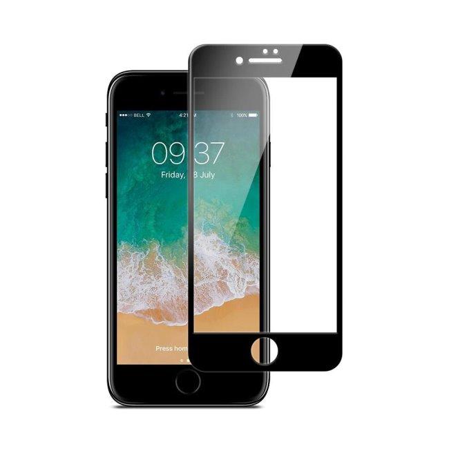 JCPAL Armor 3D ochranné sklo pre iPhone 8 Plus, black