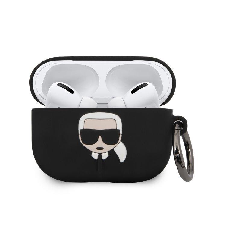 Karl Lagerfeld silikónový obal pre Apple AirPods Pro (KLACAPSILGLBK), Black