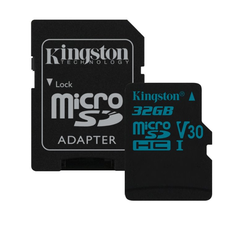 Kingston Canvas Go Micro SDHC 32GB + SD adaptér, UHS-I U3, Class 10 - rýchlosť 90/45 MB/s (SDCG2/32GB)