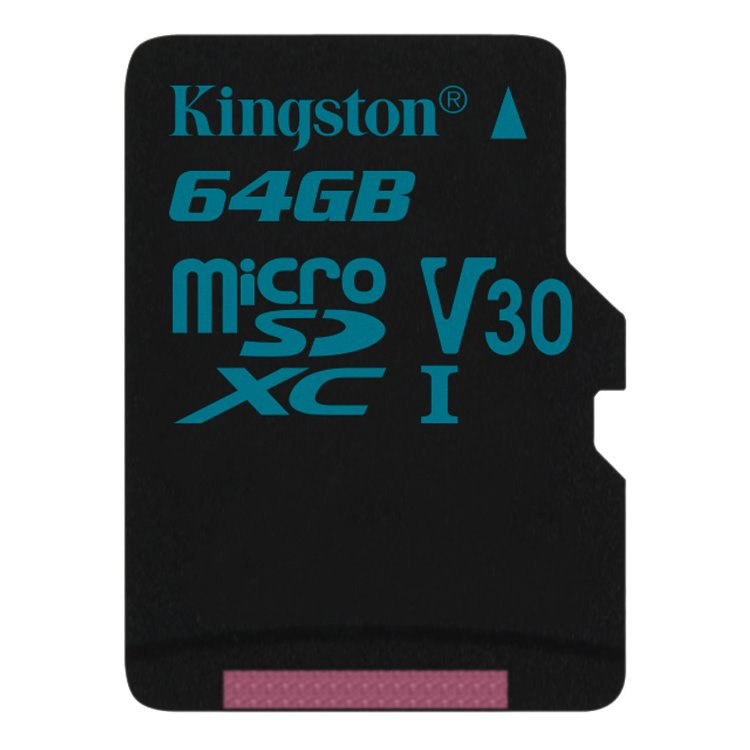 Kingston Canvas Go Micro SDXC 64GB, UHS-I U3, Class 10 - rýchlosť 90/45 MB/s (SDCG2/64GBSP)