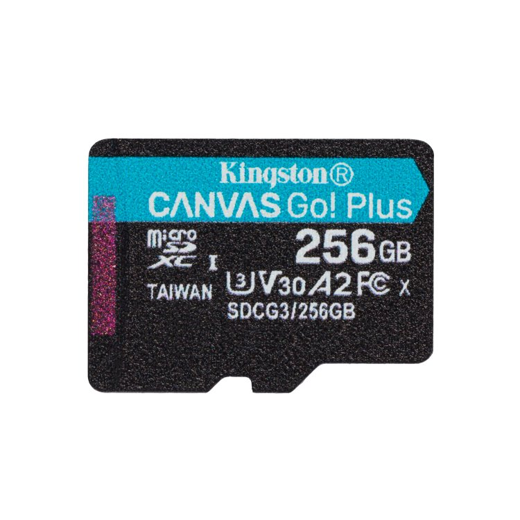 Kingston Canvas Go Plus Micro SDXC 256GB, UHS-I U3 A2, Class 10 - rýchlosť 170/90 MB/s (SDCG3/256GBSP)