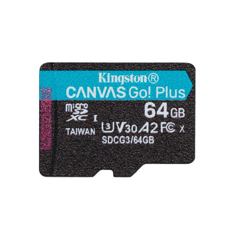 Kingston Canvas Go Plus Micro SDXC 64GB, UHS-I U3 A2, Class 10 - rýchlosť 170/70 MB/s