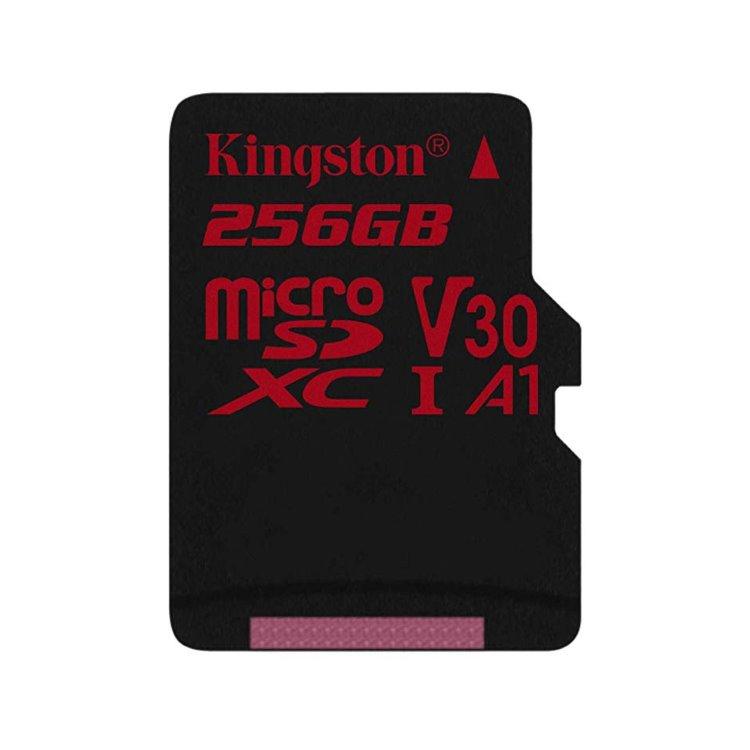 Kingston Canvas React Micro SDXC 256GB, UHS-I U3 A1, Class 10 - rýchlosť 100/80 MB/s (SDCR/256GBSP)